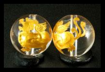 ひきゅう金彫り左