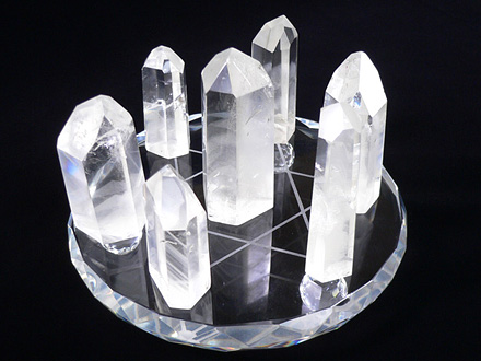六角柱水晶ファントム財脈七星陣