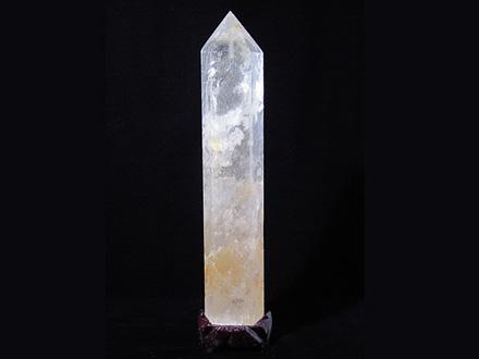 六角柱天然水晶 一点品 萬時勝意