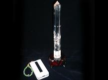六角柱天然水晶 一点品 レインボー入り 明鏡止水