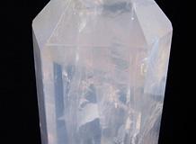 六角柱天然水晶 一点品 レインボー入り 飛天白龍