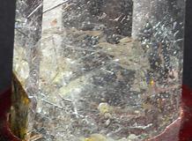 天然水晶六角柱 金魚手彫り「金如 金余」