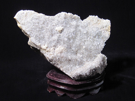 天然水晶原石飾り石「財神到」