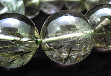 天然水晶スモーキーグリーンルチル ブレスレット