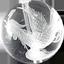 水金素彫り龍
