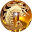 パワーストーン/シトリン金彫り五爪龍珠持ち
