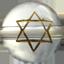 六芒星(ろくぼうせい) 水晶金彫り