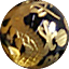 ホークスアイ(ブルータイガーアイ)金彫り五爪龍珠持ち