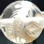 水晶 白彫り龍と鳳凰