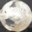 水晶 白彫り五爪龍珠持ち