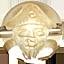 パワーストーン/天然水晶金彫り七福神/恵比寿天
