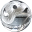 パワーストーン/水晶白彫り白蛇