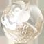 水晶白彫り五爪龍珠持ち
