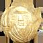 パワーストーン/天然水晶金彫り七福神/福禄寿