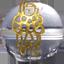 パワーストーン/天然水晶金彫り七福神/毘沙門天