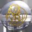 パワーストーン/天然水晶金彫り七福神/大黒天
