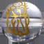 パワーストーン/天然水晶金彫り七福神/寿老神
