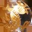パワーストーン/天然水晶金彫り五爪龍珠持ち
