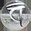 パワーストーン/天然水晶銀彫り大日如来梵字「バン」