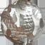水晶 銀彫り五爪龍珠持ち
