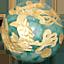 パワーストーン/翡翠金彫り五爪龍珠持ち