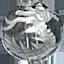 パワーストーン/水晶銀彫り五爪龍珠持ち