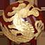 パワーストーン/赤めのう金彫り五爪龍珠持ち
