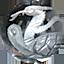 パワーストーン/天然水晶銀彫り天王四神/玄武