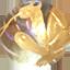 オーロラクオーツ 天王四神/玄武 金彫り