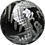パワーストーン/オニキス銀彫り五爪龍珠持ち