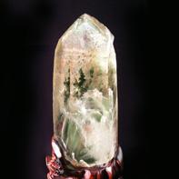 天然石グリーンガーデンクォーツ六角柱「隆盛」(一点物)